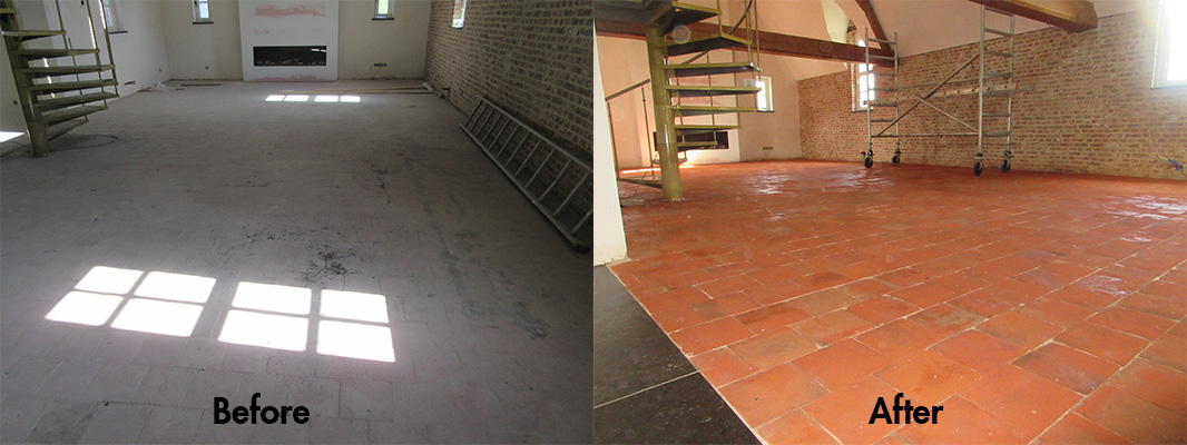 Red Terracotta Before and After