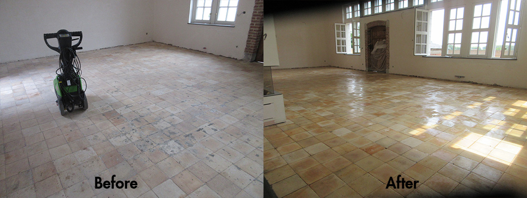 Yellow Terracotta Before and After