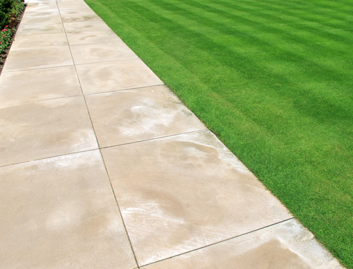 Efflorescence on concrete pavers